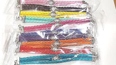 Baseball / Softball charm colored leather - Baseball Bracelets