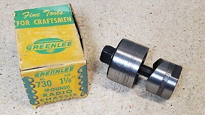 Greenlee No. 730 - 1 18 Diameter Punch And Die Set - Radio Chassis Punch
