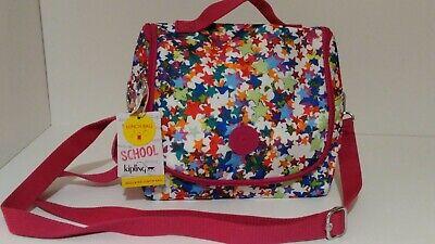 NWT Kipling Kichirou Insulated Lunch Bag, Kaleidoscope Block