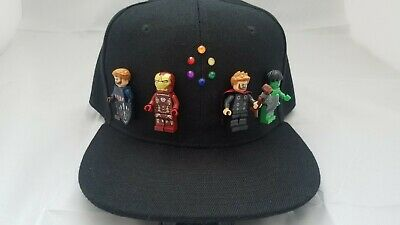 Marvel Avengers Endgame Captain America Iron Man Thor Hulk Lego Hat by YAWD ()