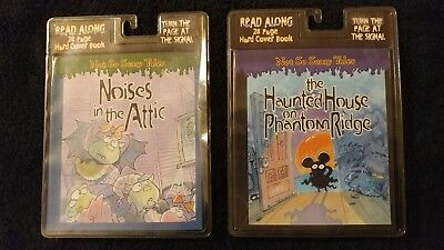 Lot of 2 Halloween Read Along 28 Page Hard Cover Book with cassette  Vintage - Halloween Cover Page