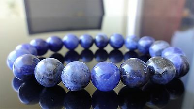 "Buy and sell Genuine Blue Sodalite Bead Bracelet for Men Women (Stretch) 10mm - 7.5"" inch products"