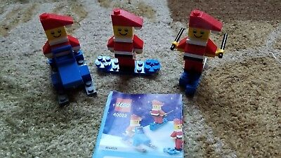 LEGO 40022 Christmas Mini Figure Set Santa 2011 - COMPLETE