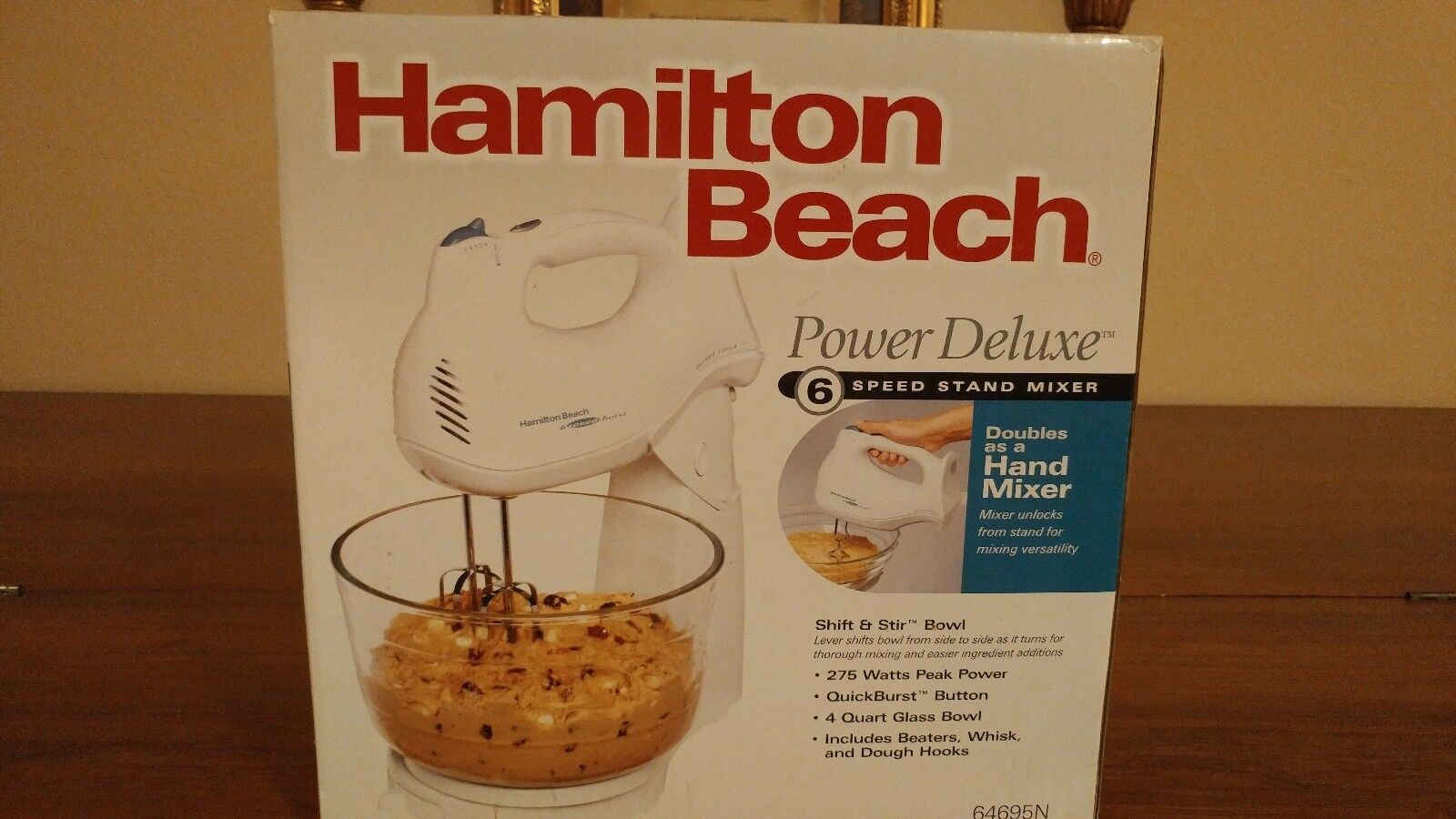 Hamilton Beach 64695N Power Deluxe Hand/Stand Mixer, NEW IN
