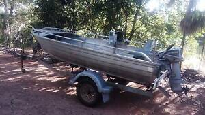 3.8m lil kipper by stacer with 15 HP evinrude McMinns Lagoon Litchfield Area Preview