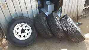 31x10.5 all terrains 15x7 rims Roleystone Armadale Area Preview