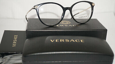 VERSACE RX Eyeglasses New Authentic Black VE3251B GB1 54 18 140