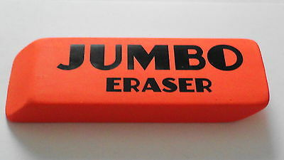 The Big Orange Jumbo Eraser 140mm Long. Very Large And Heavy