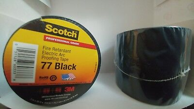 3M Black 77 Series 3inx20FT FIRE-RETARDANT ELECTRIC ARC PROOFING TAPE