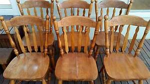 """6 x Timber Colonial Style """"Kangaroo"""" Kitchen Chairs Geelong West Geelong City Preview"""