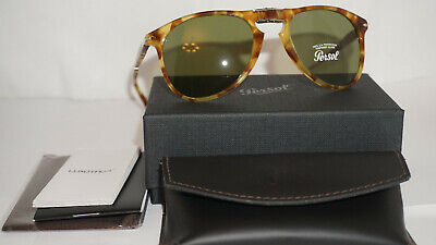 Persol Sunglasses New Mcqueen Tortoise Yellow Green PO9714S 10614E 52 (Persol Yellow Sunglasses)