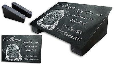 Stütze Fotogravur g03s GRANIT Grabstein Grabmal GRABPLATTE Text 30x20 cm