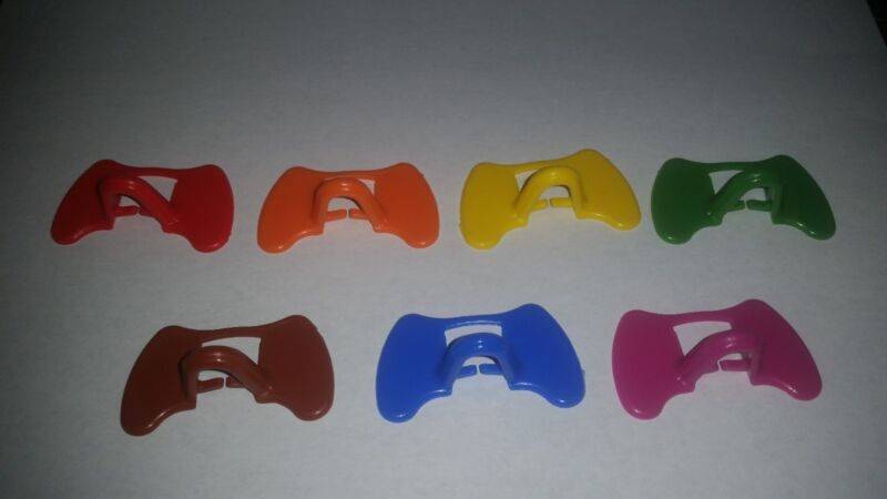 6 (six) Pinless Peepers Choose from 7 colors! (Chicken Blinders/spectacles)