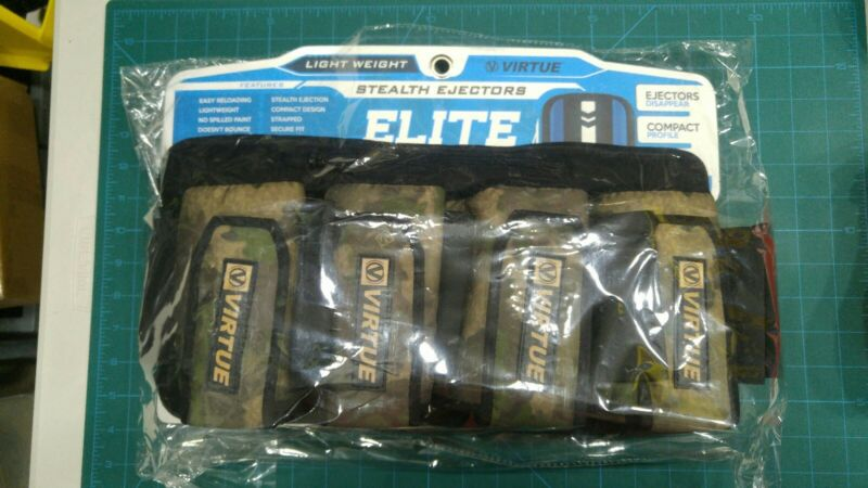 "Virtue ELITE 4+7 paintball harness.  RARE!  ""Reality Brush Camo""! Brand new!"