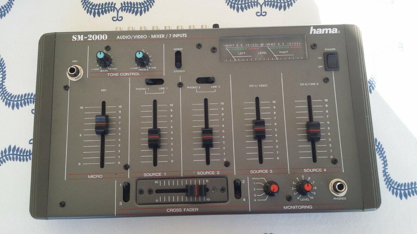 Table de mixage vintage hama / sm 2000