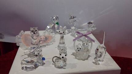 Swarovski and Other Crystal Cats - See Prices below