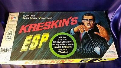 1967 KRESKIN'S ESP BOARD GAME Milton Bradley Halloween Interactive Game