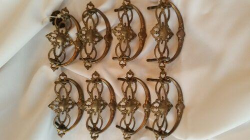 Antique Solid Cast Brass Drawer Pulls