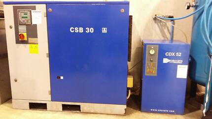 Cecatto Air Compressor & Receiver - PRICE REDUCED FACTORY CLOSING Dural Hornsby Area Preview