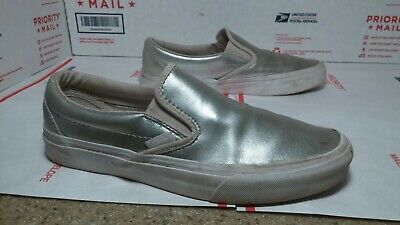 Super Unique Pre Owned Used Classic Vans Slip Ons Womens Sz 8 - Fast Ship -