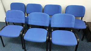PRE-ORDER BLUE STACKING OFFICE CHAIRS - reception work conference Murarrie Brisbane South East Preview