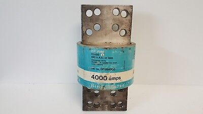 NEW OLD STOCK! GENERAL ELECTRIC CLF 4000A CLASS L CURRENT LIMITING FUSE GF8B4000