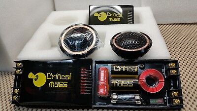 CRITICAL MASS T1A TWEETERS DASH SPEAKER MADE IN USA 24DB X0VER Jl BEST CAR (Best Speakers In A Car)