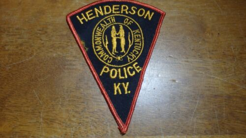 COMMONWEALTH HENDERSON KENTUCKY POLICE DEPARTMENT OBSOLETE PATCH BX B #15