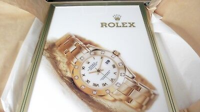 VINTAGE ROLEX OYSTER PERPETUAL DATEJUST WATCH BRASS FRAME PICTURE DISPLAY