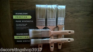 Hamilton prestige synthetic paint brush set x 5  - royal mail tracked