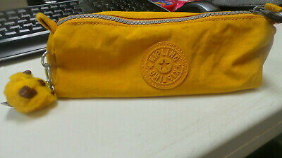 Kipling Mustard yellow pencil case