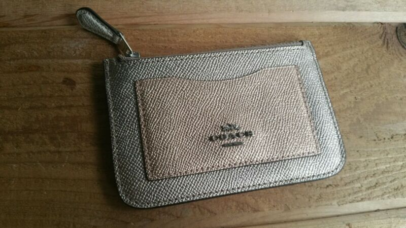 Coach Shiny Pink Leather Organizer/Coin Purse/Credit Card Holder