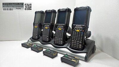 Lot Of 4x Refurb Symbol Mc9090-gf0hjefa6wr Barcode Scanner W 4 Slot Cradle
