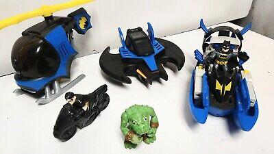 Imaginext Batman and Robin Bat aeroplane Bat Helicopter Bat Boat Bundle