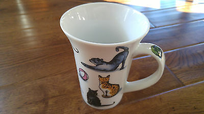 "Paul Cardew Puss Cat Tea Mug Coffee Cup 5""  England 2008 Tabby Calico Siamese"