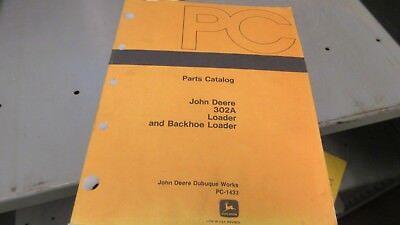 John Deere Pc1433 302a Backhoe Loader Parts Manual