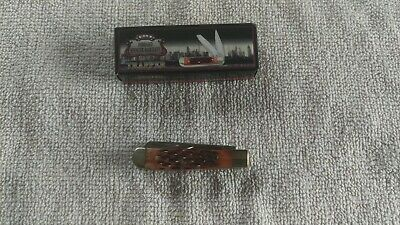 "HIBBARD SPENCER-BARTLETT TRAPPER 2 1/2"" Pocket Knife Brown Jigged Bone"