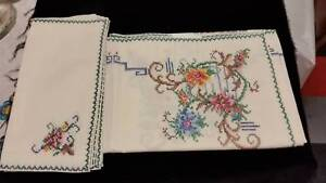 embroidered table cloths