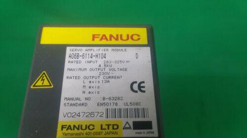 Fanuc Servo Amplifier - Aisv 40 - A06b-6114-h104 Series D