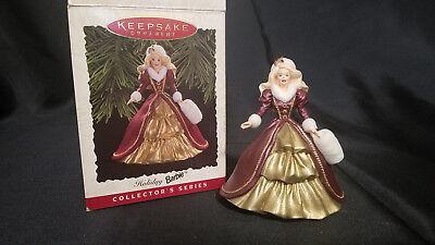 Vintage Hallmark Keepsake Collector's Series 1996 Holiday Barbie Doll Ornament