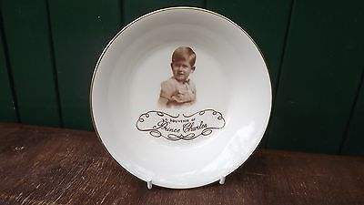 1950s Paragon China Young Prince Charles Child's Bowl Fully Stamped