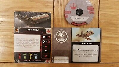 Star wars x wing miniatures 2nd edition HWK-290 Rebel Scout & Moldy Crow Dial