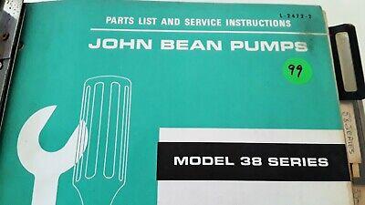 John Bean Pumps Parts And Service Manual Multiple Series