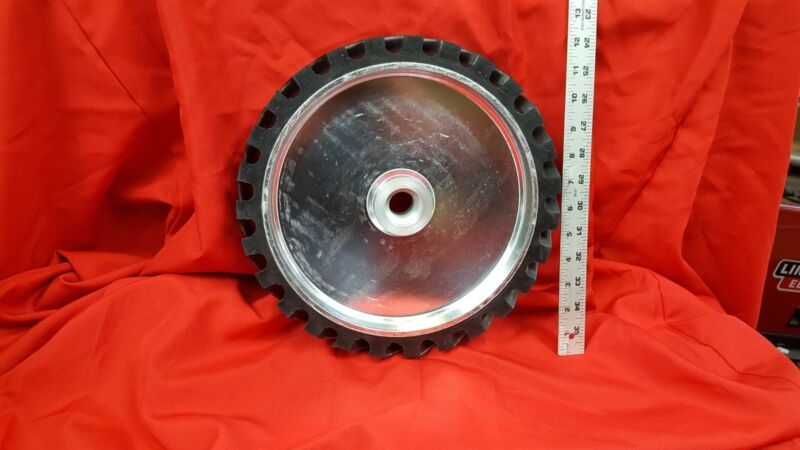 "12"" Serrated Contact Wheel for 2x72 Belt Sander Grinder"