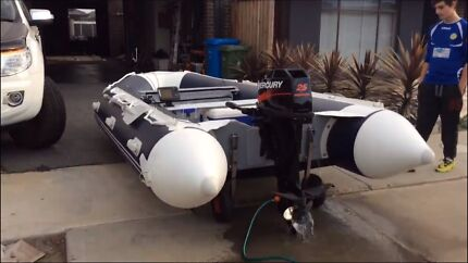 Zodiac inflatable boat with mercury 25hp outboard