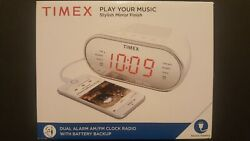 TIMEX - DUAL ALARM AM/FM Clock Radio with Battery Backup T2312 BRAND NEW SEALED