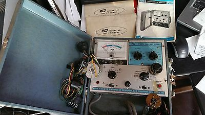 Vintage Bk Model 465 Crt Tester W Adapters Manuals - Powers On - Untested