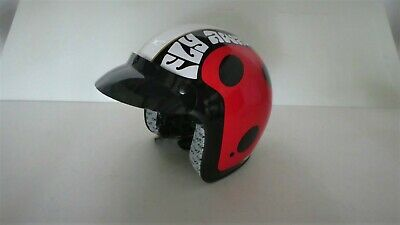 Motorrad Helm Jet Helm Größe XL Marienkäfer Look