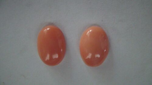 Andys Garage Sale - Italian Coral Cabs Matched Salmon 14x10mm Oval Natural