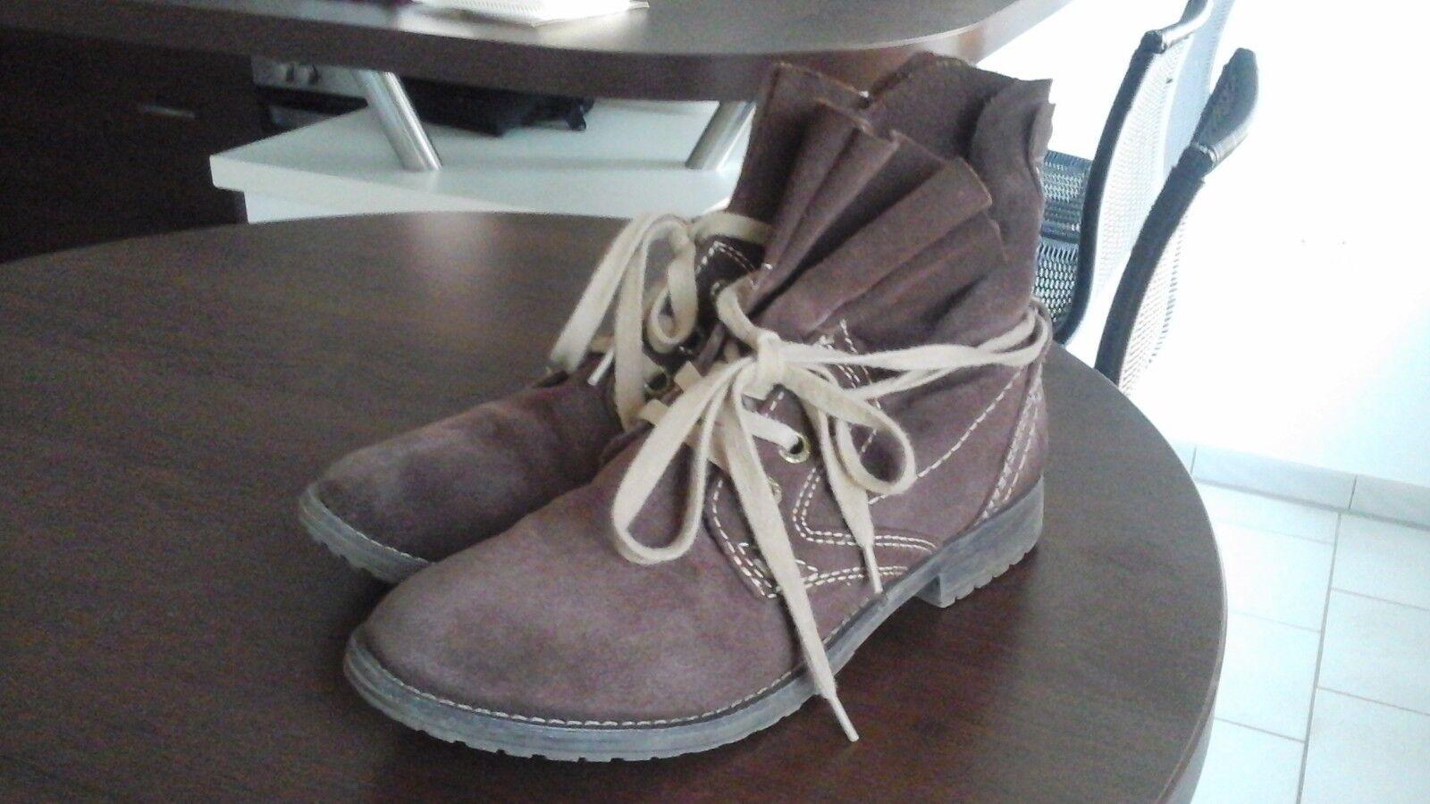 Tolle Leder Mädchen  Damen Schuhe von Marco Tozzi in der Größe 37 TOP